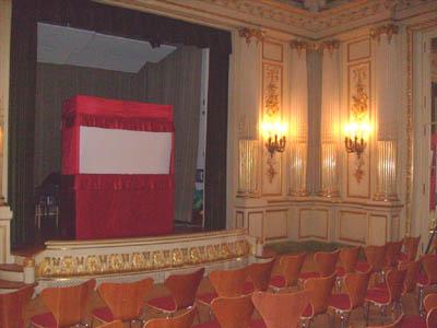 """Our satege in """"Spiegelsaal"""" (Mirror Hall) in Museum für Kunst und Gewerbe"""